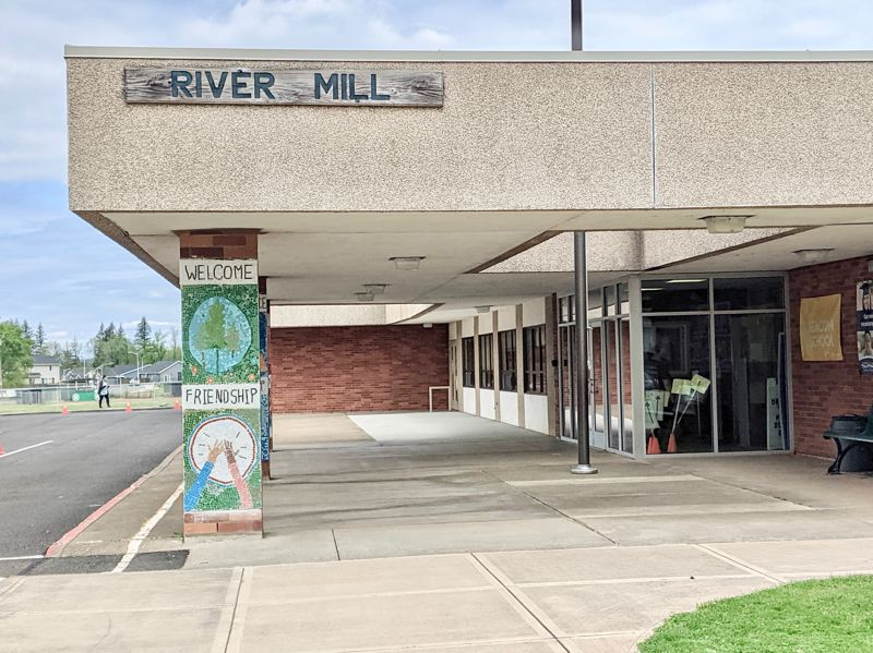 PMG PHOTO: EMILY LINDSTRAND - Portable buildings will be used at River Mill Elementary School next year to accomodate a growing stuent population.