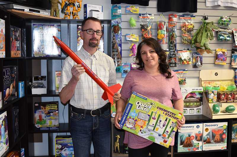 RAMONA MCCALLISTER - Michael and Connie Rayl are the owners of the newly opened Just Science retail in Prineville. The couple try to carry a wide assortment of science projects in a variety of topics, including chemistry kits, drones, books, posters and crafts, toys and electronics. They also cover topics such as engineering and robotics, anatomy, metal detecting, botany, vulcanology, solar system and archeology.