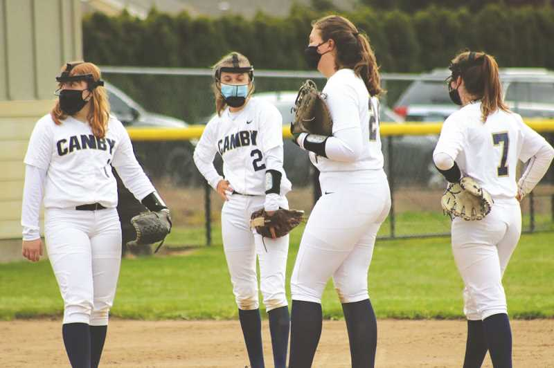 PMG PHOTO: SARAH OLIVER - The Canby softball team continues to play well, snagging its third straight win May 3 against Lakeridge.
