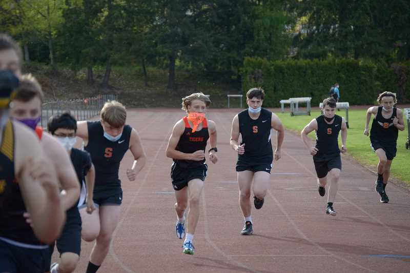 PMG PHOTO: ANNA DEL SAVIO - Runners from Scappoose, St. Helens and Yamhill start running.