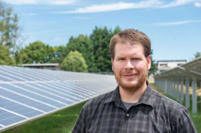 COURTESY PHOTO: NWREC - Chad Higgins, associate professor in the Biological and Ecological Engineering Department at Oregon State University, has been at the forefront of Agrivoltaics.