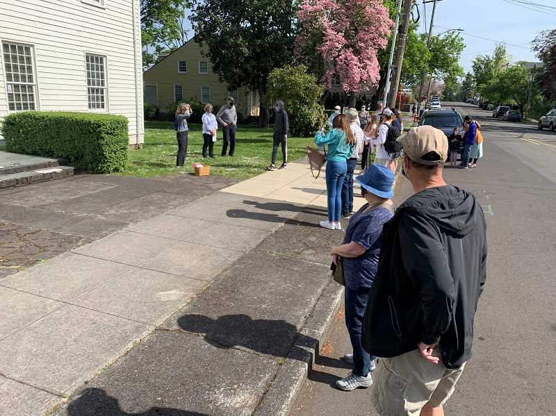 COURTESY PHOTO - Alliance Charter Academy teacher Mary Norville said the historic tour provided a wonderful outing for her students who are weary of a year of pandemic screen time.