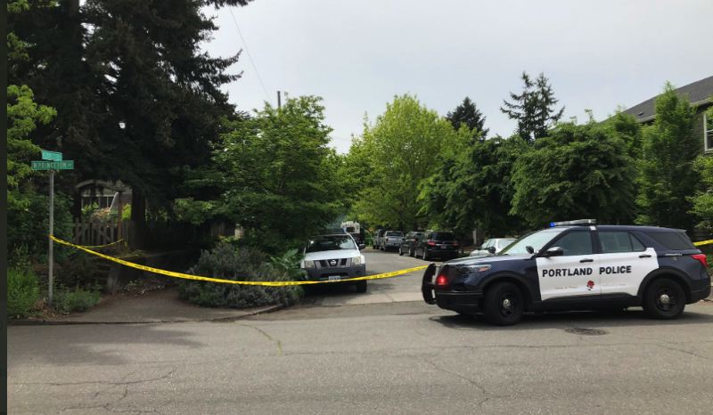 VIA KOIN 6 NEWS - Portland Police responded to a fatal apartment shooting in North Portland's Cathedral Park neighborhood on May 5.