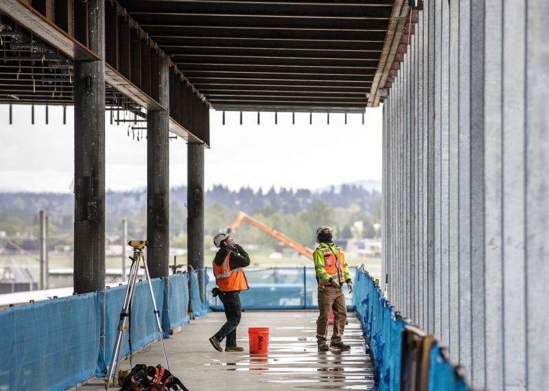 PAMPLIN MEDIA GROUP: JONATHAN HOUSE - Concourse B at PDX under construction.