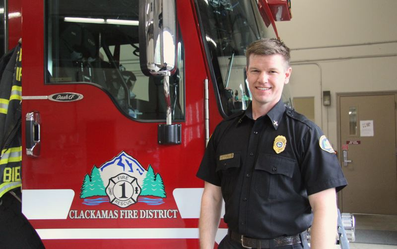 PMG PHOTO: SAM STITES - Brandon Paxton is a Clackamas Fire battalion chief and public information officer.