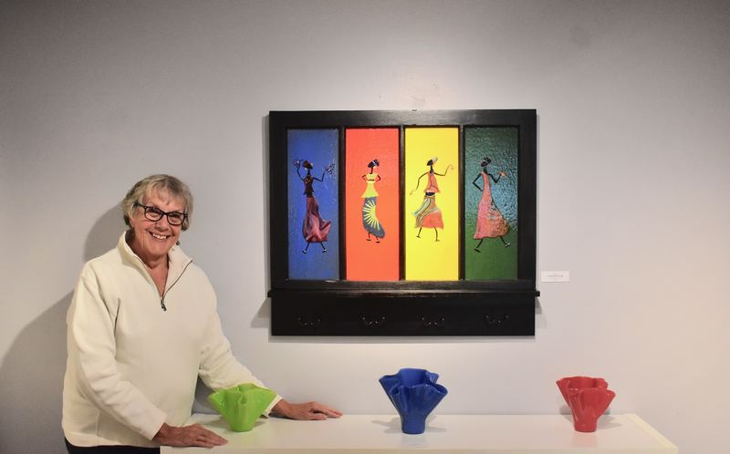 PMG PHOTO: EMILY LINDSTRAND - Phyllis Flury's show 'The View From Here' will be featured at the Spiral Gallery through the end of this month.