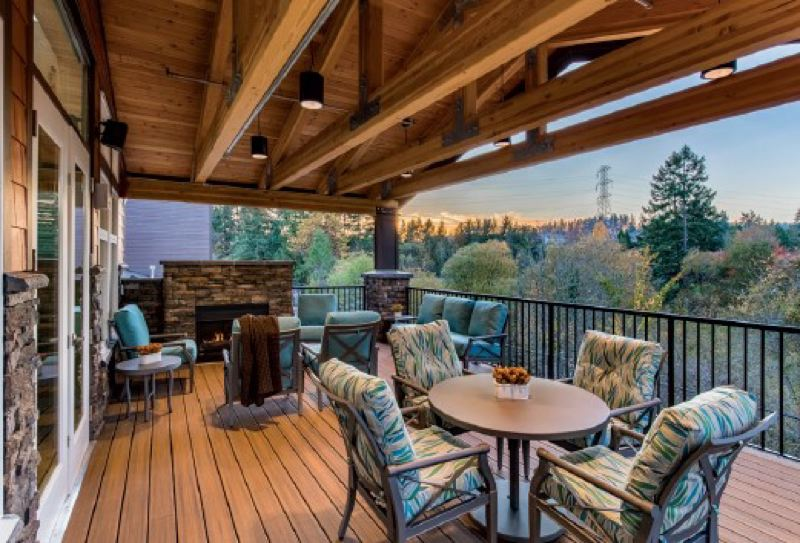 MorningStar offers residents beautiful views as well as an outdoor grill and fire pit