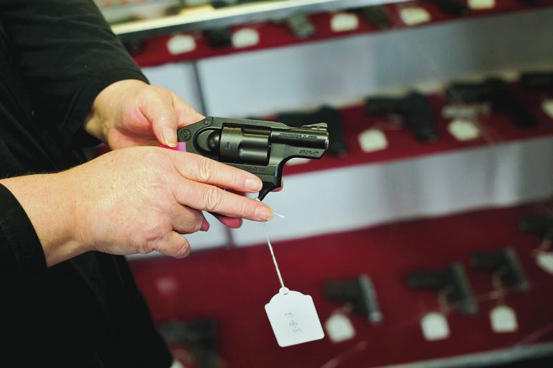 PMG FILE PHOTO  - Lawmakers say a bill heading to the governor for her signature will make Oregon safer by requiring safe storage of guns and implementing a ban on guns in some public buildings.