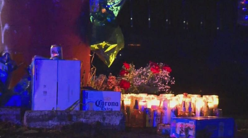 COURTESY PHOTO: KOIN 6 NEWS - A vigil  for 22-year-old Alejandro Baraja was the scene of a mass shooting in Gresham late last month.