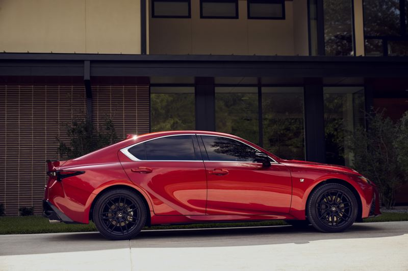 COURTESY LEXUS USA - The styling of the 2021 Lexus IS 350 AWD F Sport immediately sets it apart from the competition.
