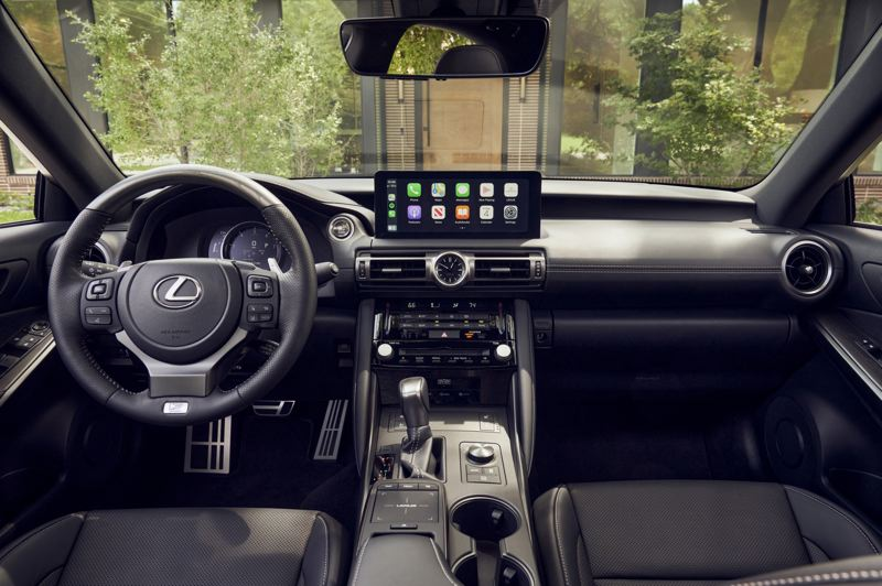 COURTESY LEXUS USA - The display screen in the 2021 Lexus IS 350 F Sport has been moved closer to the driver for easier use.