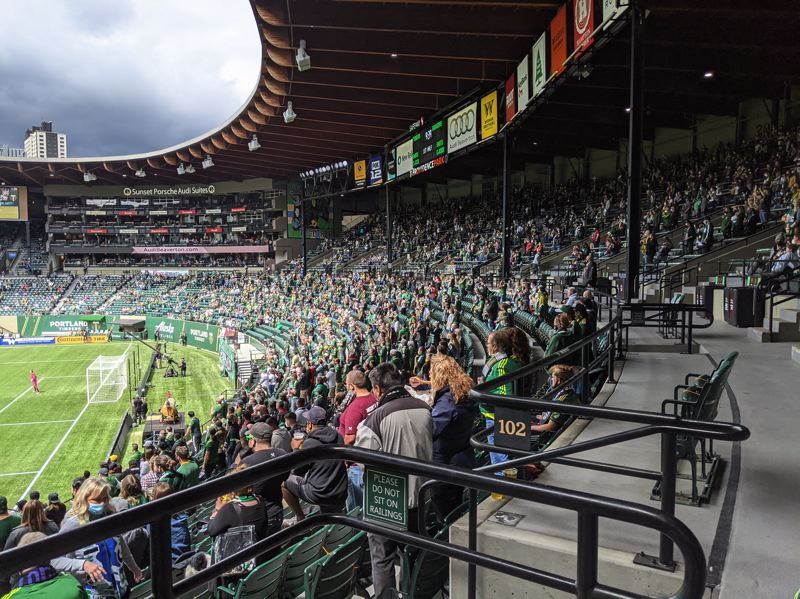 PAMPLIN MEDIA GROUP: JOSEPH GALLIVAN - On May 9, 2021, the Portland Timbers hosted the Seattle Sounders in MLS and lost 2-1. The North End, with the stadium at 25 percent of capacity or about 6,000 fans, was loud, but not enough affect the play.