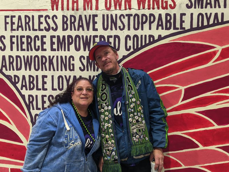 PAMPLIN MEDIA GROUP: JOSEPH GALLIVAN - Residents of Everett Washington, Ross Felt and his wife Carla were quietly celebrating. They got their tickets from Seat Geek as a Mother's Day present from their son. 'It was enjoyable, a little bit quiet when we were leading,' said Carla.