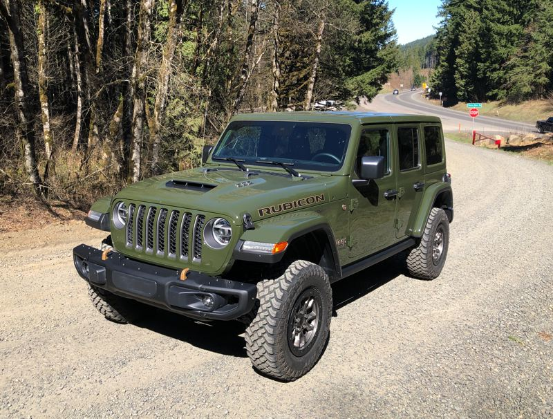 PMG PHOTO: JEFF ZURSCHMEIDE - With 470 horsepower and 470 pound-feet of torque , the iV8-powered 2021 JeepWrangler will hit 60 miles per hour in just 4.5 seconds.