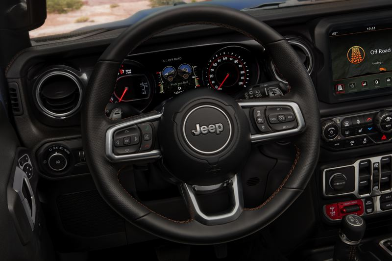CONTRIBUTED PHOTO: JEEP - 2021 Inside, the Jeep Wrangler Rubicon  392 includes comfortable leather seats, a good technology package with a touchscreen interface.