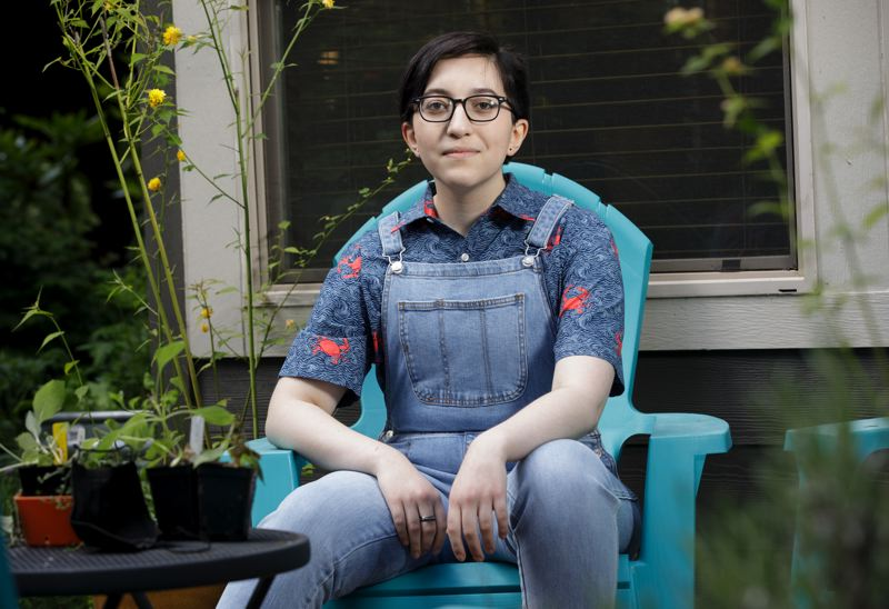 PMG PHOTO: JONATHAN HOUSE - Ceph Tronco says they want to know that Hillsboro School Board members are committted to creating inclusive schools for LGBTQ students.