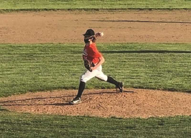 COURTESY PHOTO: GARY MILLER - Will Mason on the mound for the Indians against Corbett.