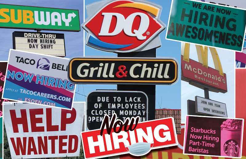 PMG PHOTOS: PAT KRUIS. DESIGN: BECKY STEVER - Help wanted signs are becoming a familiar sight in Madras, Oregon.