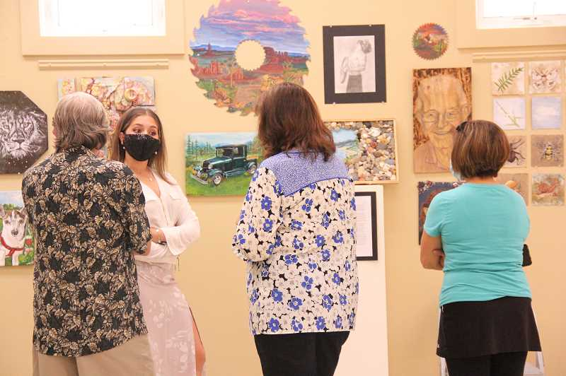 COURTESY PHOTO: WOODBURN HIGH SCHOOL - Woodburn High Schools visual arts students had an opportunity to show some work earlier this spring. They will be part of the May 21-22 Art Fest, along with musicians and actors from the school.