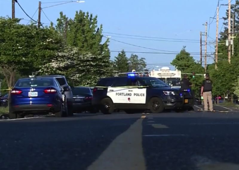 COURTESY KOIN 6 NEWS - The scene of the fatal Wednesday shooting.