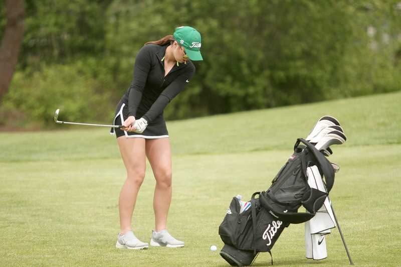 PMG PHOTO: PHIL HAWKINS - North Marion's Mallory Patzer led the Huskies with score of 109, as the girls golf team placed fourth-through-seventh in the individual standings. Patzer was followed by teammates Vivian McCullough (119), Laila Brooks (121) and Lana Shevchenko (124).