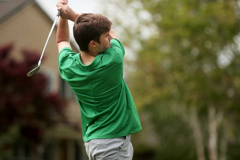 PMG FILE PHOTO: PHIL HAWKINS - North Marion's Carson Hubbard placed runner-up behind teammate and district champion Jack Brewer, as the Huskies edged the Molalla Indians by 24 strokes to win the district championship.