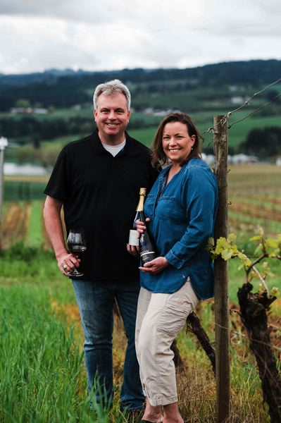 COURTESY PHOTO: DION VINEYARD - While local wineries like Cornelius' Dion Vineyard are starting to see the return of wine tourism, it's still too difficult to plan long-term events as numbers of customers allowed inside are constantly changing.