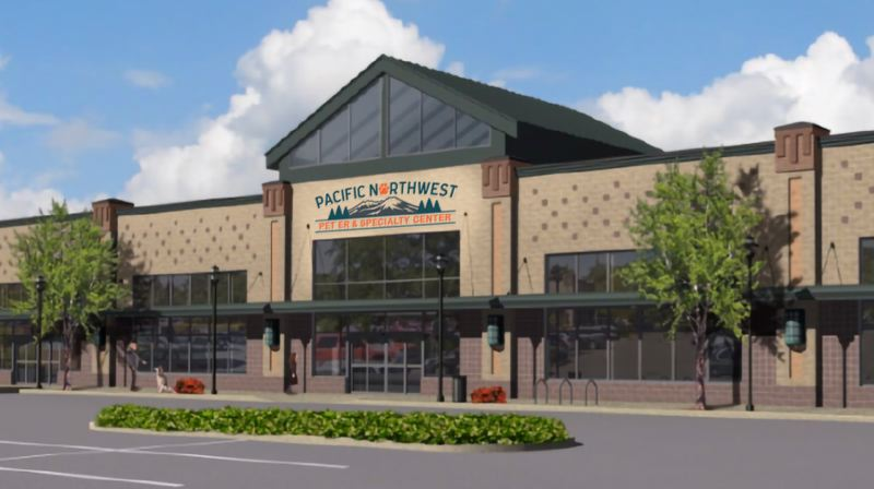 COURTESY RENDERING: LORENTZ BRUUN CONSTRUCTION - A typical Lorentz Bruun Construction building in the Portland area. The company turns 75 this year.