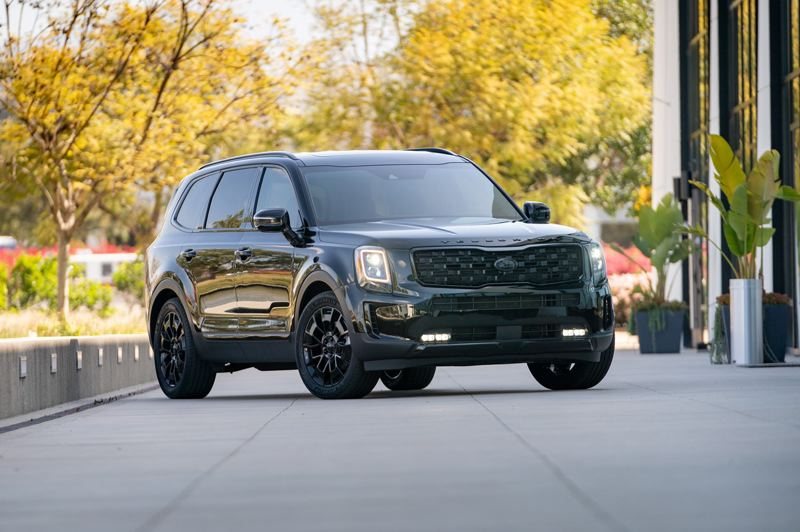 COURTESY PHOTO: KIA - For 2021, the popular Kia Telluride is available in a special Nightfall Edition.