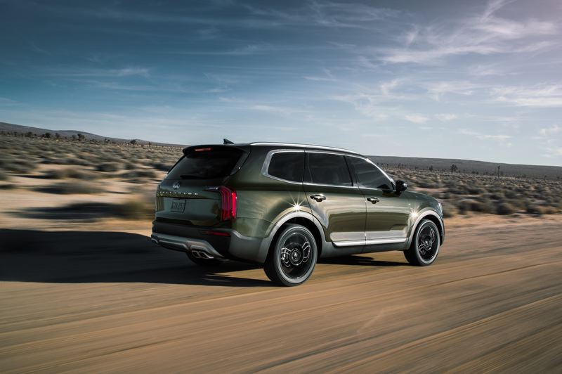 COURTESY PHOTO KIA - The 2021 Kia Telluride offers up toup to 87 cubic feet of cargo capacity with all the rear seats folded down — and 21 cubic feet aif all three rows are occupied, which is moer than most midsize SUVs.