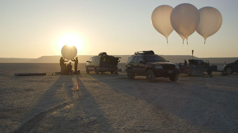 COURTESY PHOTO: DISCOVERY+ - Cameron Smith and his team have performed many tests for his concept of sending a spacesuited human toward space in an air balloon.