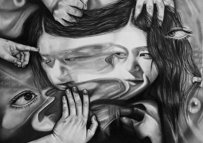 COURTESY PHOTO: CLARA JOHNSON - Xenophobia by Clara Johnson. The piece won the 2021 Congressional Art Competition for Oregons First Congressional District.
