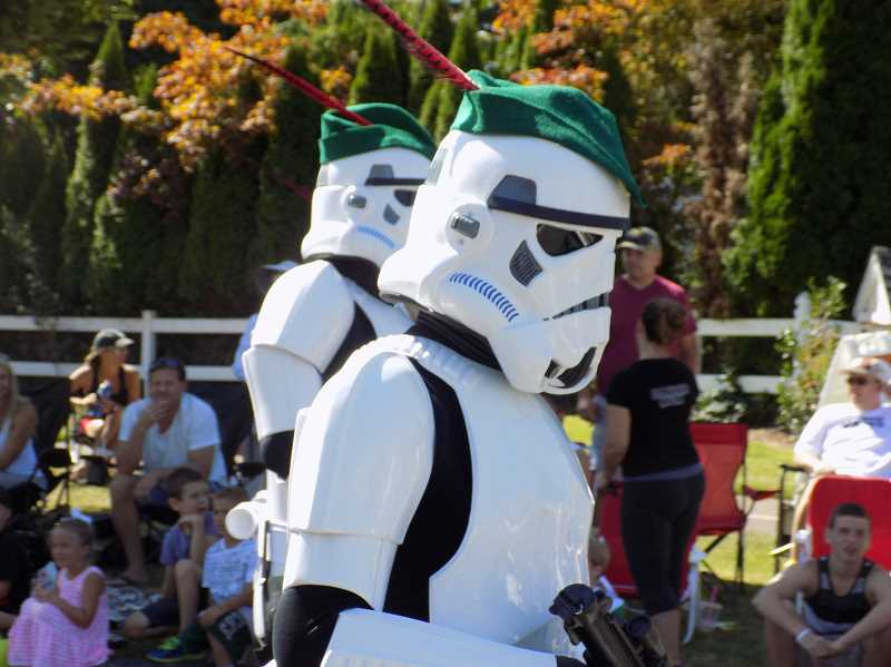PMG FILE PHOTO - In order to make sure more restrictions are lifted and that more people can attend, the annual Robin Hood Festival has been moved to Sept. 24 and 25. The festival always includes a parade, such as this one several years ago with Star Wars Imperial Stormtroopers