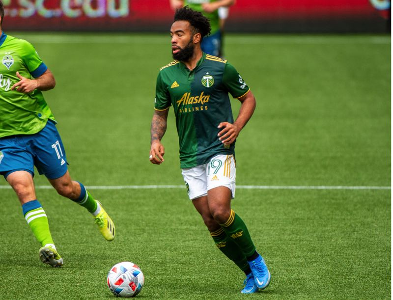 PMG PHOTO: DIEGO G. DIAZ - Eryk Williamson, pictured in Sunday's match against the Sounders, delivered two assists as the Timbers rebounded on Saturday for a 2-0 win at San Jose.