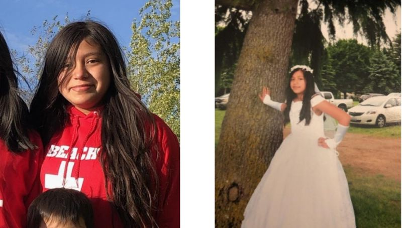 CONTRIBUTED - Two pictures of Karen Torres, 13.