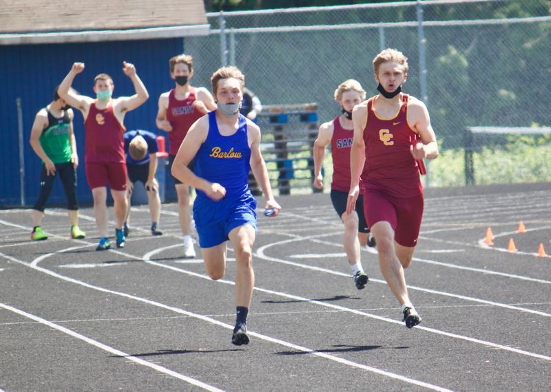 PMG PHOTO: CHRISTOPHER KEIZUR - Central Catholic dominated the running events — taking first in 15 of 20 events.
