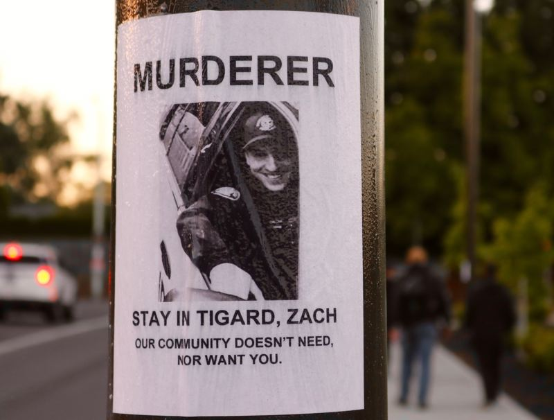 Fatal shooting spurs protest at Portland cop's Tigard home