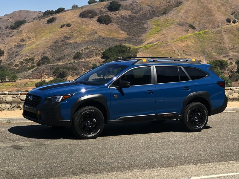 PMG PHOTO: JEFF ZURSCHMEIDE - The 2021 Subaru Outback Wilderness edition comes from the factory with a turbocharged 2.4-liter engine, symmetrical all-wheel-drive with X-Mode for slippery conditions and steep hill descents, increased ride height, underbody protection, and all-terrain wheels and tires.