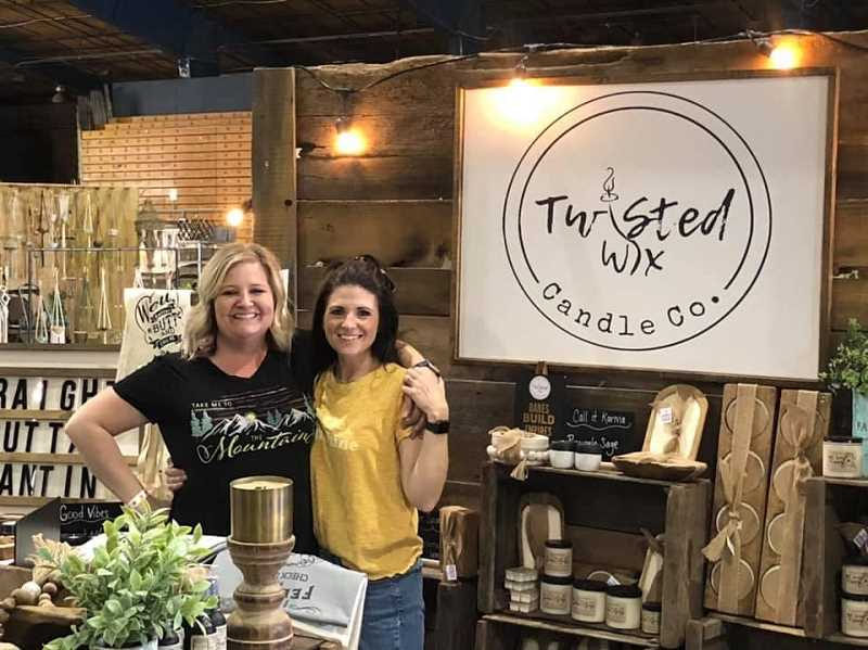 PHOTO COURTESY OF JENNIFER HAYWORTH  - Some of the businesses participating in the street fair include Twisted Wix. Pictured are Angie Cochran (left) and McKenzie Kudlac.