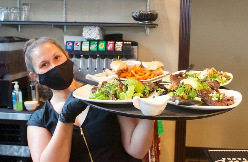 PMG PHOTO: CHRIS KEIZUR - Bumpers Grill & Bar on Halsey Steet in Fairview served food in June.