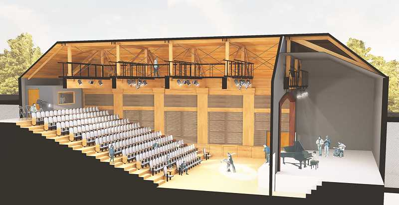 COURTESY RENDERING: CCC - The LaJoie Theatre will be part of the Chehalem Cultural Center's performing arts wing, with construction expected to begin in spring 2021.