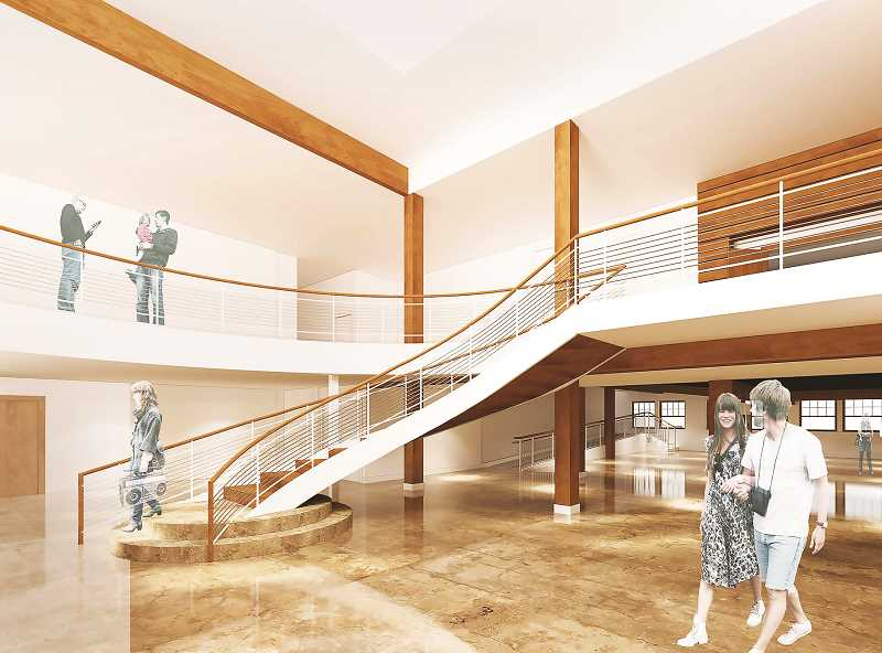 COURTESY RENDERING: CCC - Money toward renovation of the entrance to the CCC came via the Tri family.