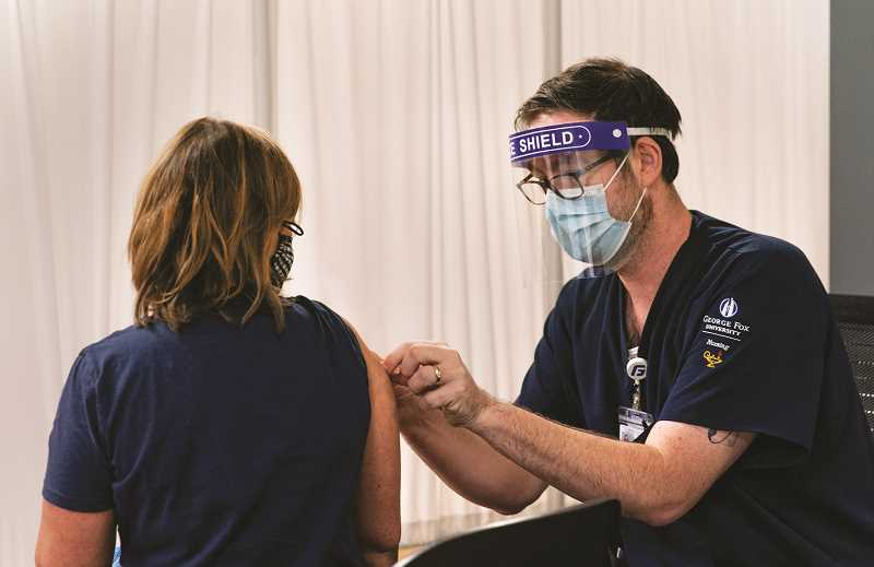 COURTESY PHOTO: GFU - GFU nursing students administered COVID-19 vaccines over the final weeks of the 2020-21 school year.