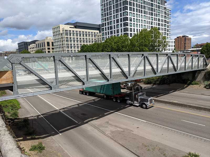 PMG: JOSEPH GALLIVAN - The Flanders Street Crossing, a publicly funded project in Portland opening in 2021. The Oregon Senate voted on potential new protections for construction workers. They should get the negotiated prevailing wage in whatever locality they are in in Oregon.