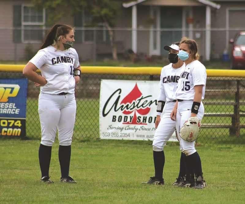 COURTESY PHOTO: SARAH OLIVER - The Canby High softball team got in a pair of extra games this week to finish off its seaon.