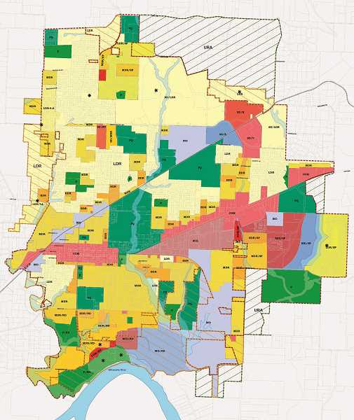 COURTESY MAP: CITY OF NEWBERG - To accommodate growth in demands for residential, commercial and industrial land, the city of Newberg has begun considering expanding its urban growth boundary.
