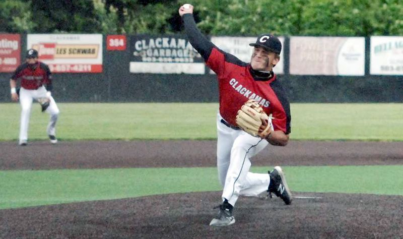 COURTESY PHOTO: OSAATODAY - Clackamas junior Jackson Jaha pitched a complete game to lead the Cavaliers past Lakeridge 2-1 on Monday, May 17.
