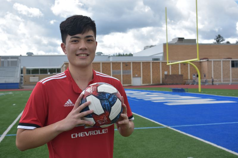 PMG PHOTO: TERESA CARSON - Soichi Hayashi, who will graduate from Gresham High School this year, garnered $1.2 million in scholarships and financial aid from the 28 colleges that accepted him.