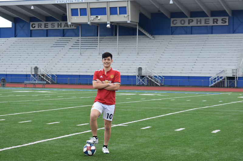 PMG PHOTO: TERESA CARSON - A soccer star, Hayashi only applied to colleges with good soccer programs. His dream is to play soccer professionally.