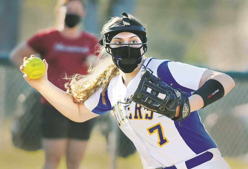 PMG FILE PHOTO - NHS softball finished its stellar 2021 campaign with a record of 14-4, including an 11-3 record in the Pacific Conference that netted them an unofficial conference title.
